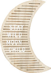 Dekorieren & Einrichten Letterboard Mond natur