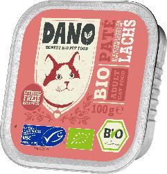 DANO Nassfutter für Katzen, Bio Pastete mit Lachs