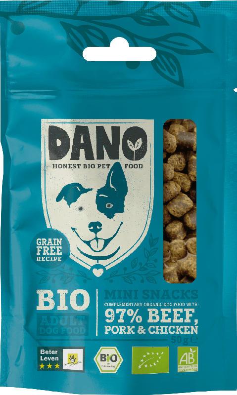 DANO Snacks für Hunde, Bio, Adult, Mini-Snacks