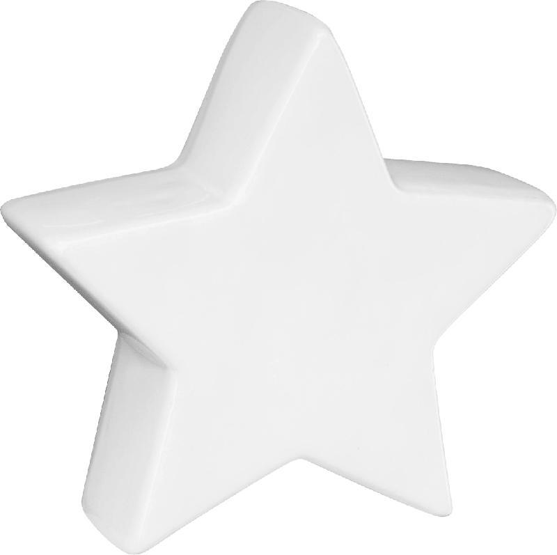 Dekorieren & Einrichten Keramikstern weiß