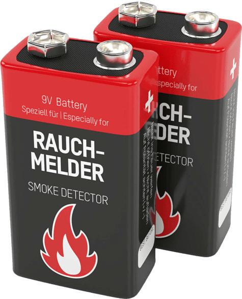 ANSMANN 1515-0006 Alkaline 9V 9 Volt, Block E / 6LR61  Batterie Lithium 2 Stück
