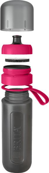 BRITA fill&go Active Trinkflasche, Pink/Grau
