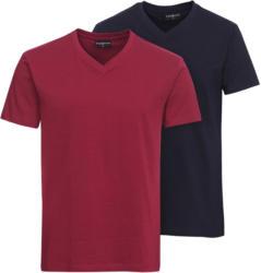 2 Herren T-Shirts mit V-Ausschnitt