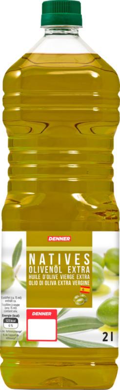 Huile d'olive espagnole Denner , Extra Vergine, 2 litres