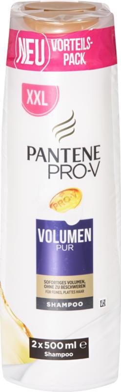 Pantene Pro-V Shampoo, Volumen pur, 2 x 500 ml