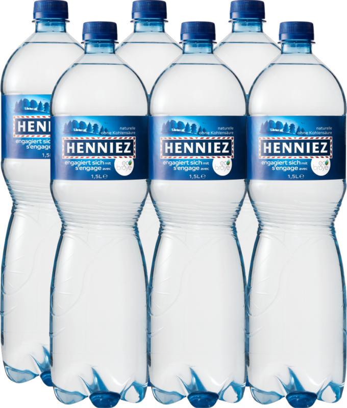 Eau minérale Naturelle Henniez, non gazeuse, 6 x 1,5 litre