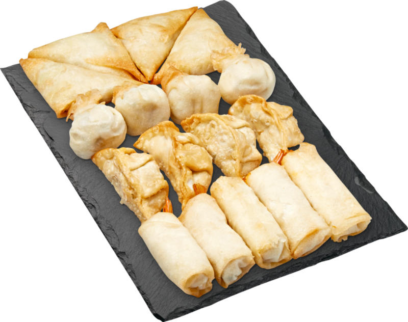 Vaschetta snack asiatici, assortiti, 602 g