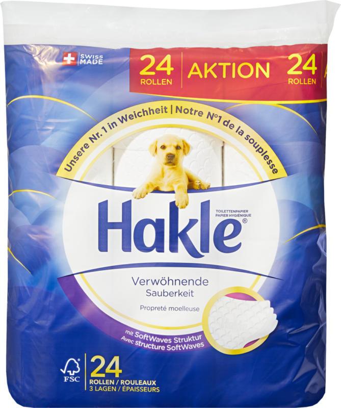 Carta igienica Igiene morbida Hakle, a 4 veli, 24 x 140 strappi
