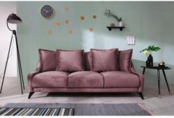 Dreisitzer-Sofa Royal Rose B: 225 cm Altrosa