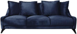Dreisitzer-Sofa Royal Rose B: 225cm Dunkelblau