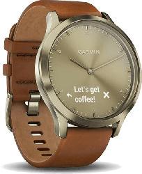 Hybrid Smartwatch Vivomove HR Premium, Gold/Hellbraun (010-01850-05)