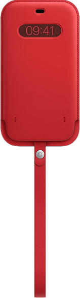 Lederhülle mit MagSafe in (PRODUCT)RED für iPhone 12 Pro Max (MHYJ3ZM/A)