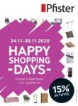 Pfister Happy Shopping Days - bis 30.11.2020