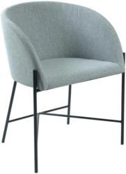 Stuhl in Textil Hellgrau