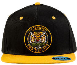 """GAYA ENTERTAINMENT Call of Duty: Cold War Snapback """"Top Secret Patch"""" Snapback, Schwarz/Gelb"""