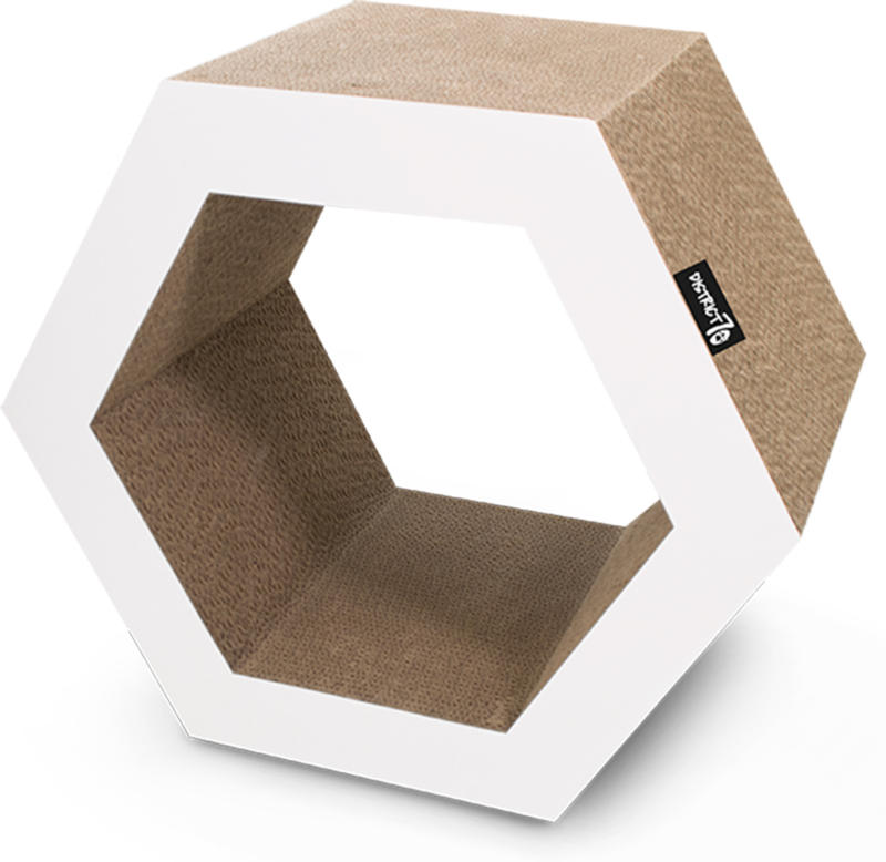 District 70 Carton à gratter pentagone 50B blanc