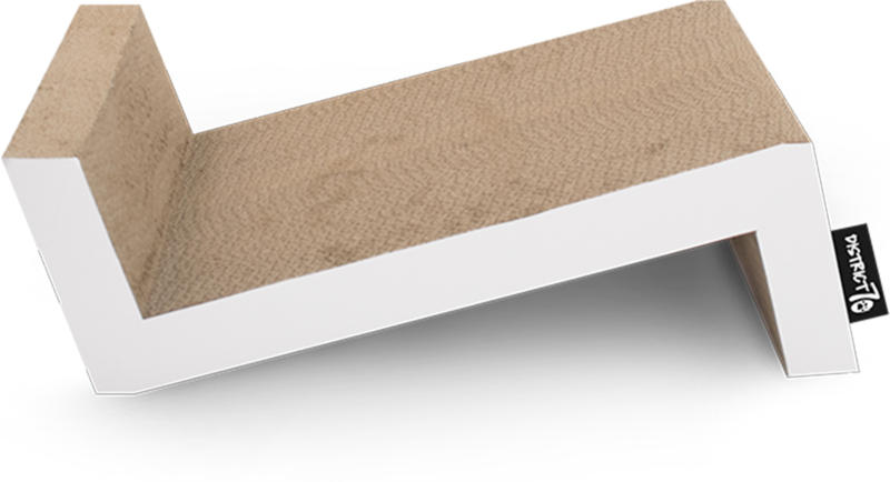 District 70 Carton à griffer Sofa L blanc