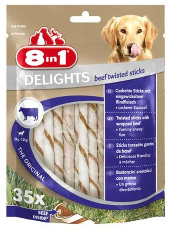 8in1 DELIGHTS Beef twisted 35pcs 190g