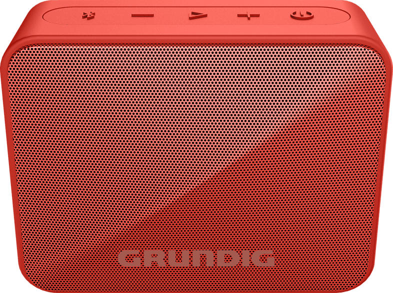 GRUNDIG GBT SOLO Bluetooth Lautsprecher, Rot, Wasserfest
