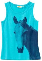 Mädchen-Top mit Pferde-Frontaufdruck