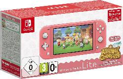 NINTENDO Switch Lite Koralle inkl. Animal Crossing und 3 Monate Switch Online Mitgliedschaft