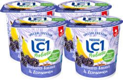 Yogourt LC1 Nestlé, probiotique, mûres-bananes & graines de lin, 4 x 150 g
