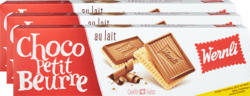Biscotti Choco Petit Beurre Latte Wernli, 3 x 125 g