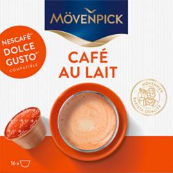 Capsule di caffè Café au lait Mövenpick, compatibili con le macchine Nescafé® Dolce Gusto®, 16 capsule