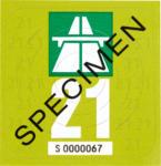 Denner Bibite Autobahnvignette 2021 , 1 Stück - bis 07.12.2020