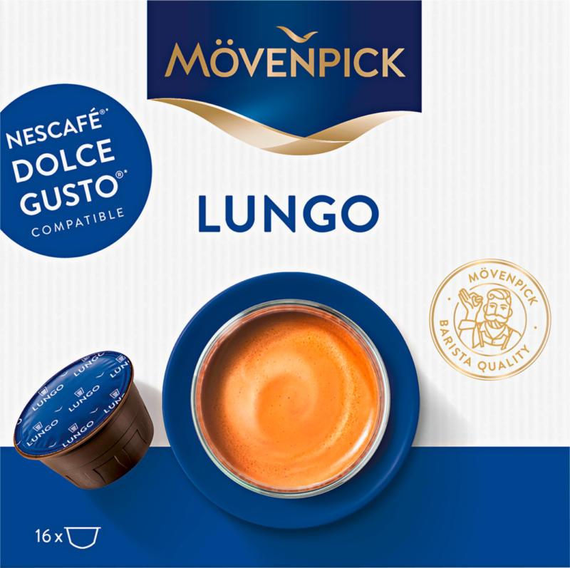 Capsule di caffè Lungo Mövenpick, compatibili con le macchine Nescafé® Dolce Gusto®, 16 capsule