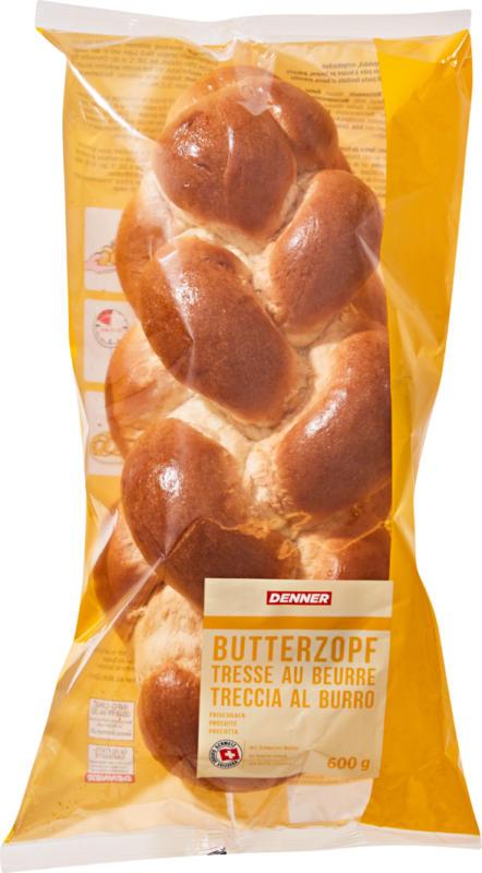 Tresse au beurre précuite Denner, 600 g