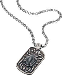 Police Edelstahl-Halskette mit Plaketten-Anhänger Spectre -