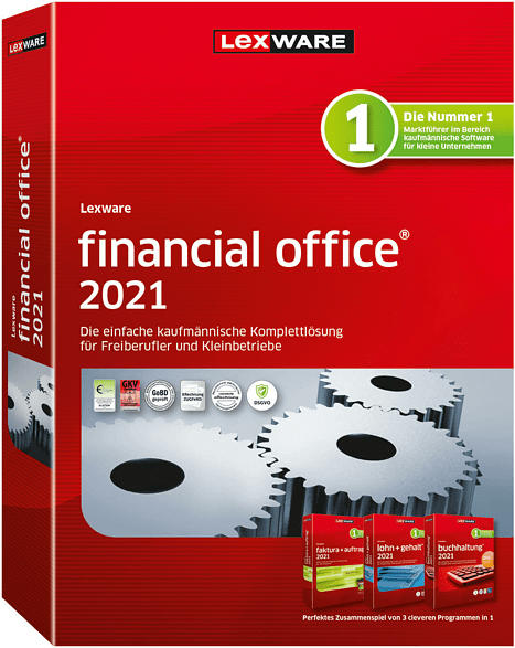 Lexware financial office 2021 Buchhaltung-Rechnung-Lohn JV (365-Tage)