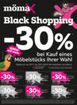 mömax Würselen Black Shopping - bis 05.12.2020