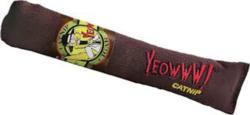 Yeowww Jouet pour chat cigare brun avec népète 18cm