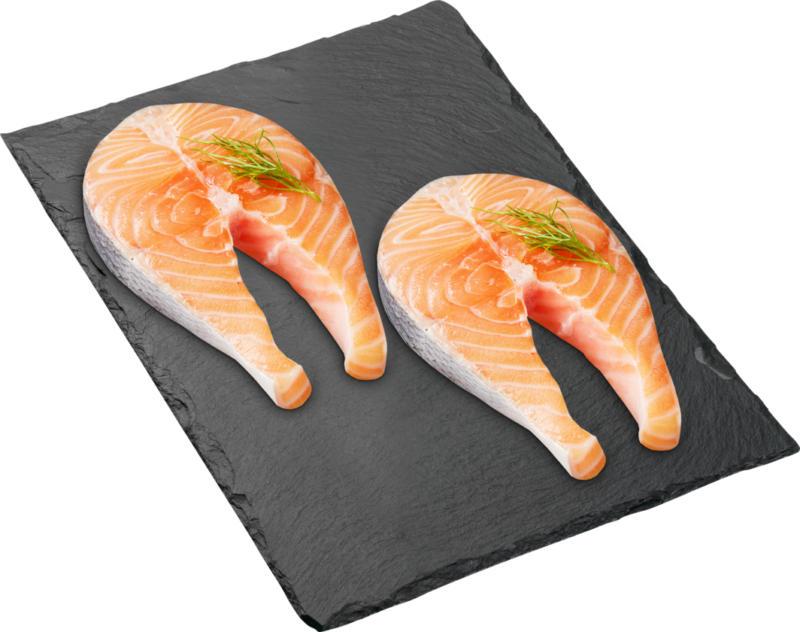 Tranche de saumon Denner, avec peau, Norvège, 2 x 200 g