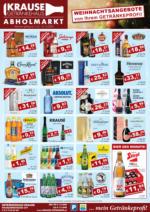 Getränkehaus Krause Flugblatt - Dezember 2020