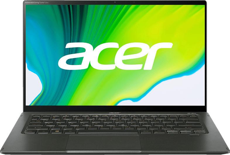 ACER Swift 5 (SF514-55T-58DN) Tastaturbeleuchtung, Notebook mit 14 Zoll Display, Core i5 Prozessor, 8 GB RAM, 512 GB SSD, Intel Iris Xe Graphics, Grün