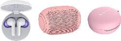 LG HBS-FN6.APL2P, In-ear True Wireless Kopfhörer Bluetooth Weiß/Bubble Gum