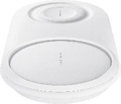 SAMSUNG Wireless Charger Duo Pad, Induktive Ladestation, Weiß