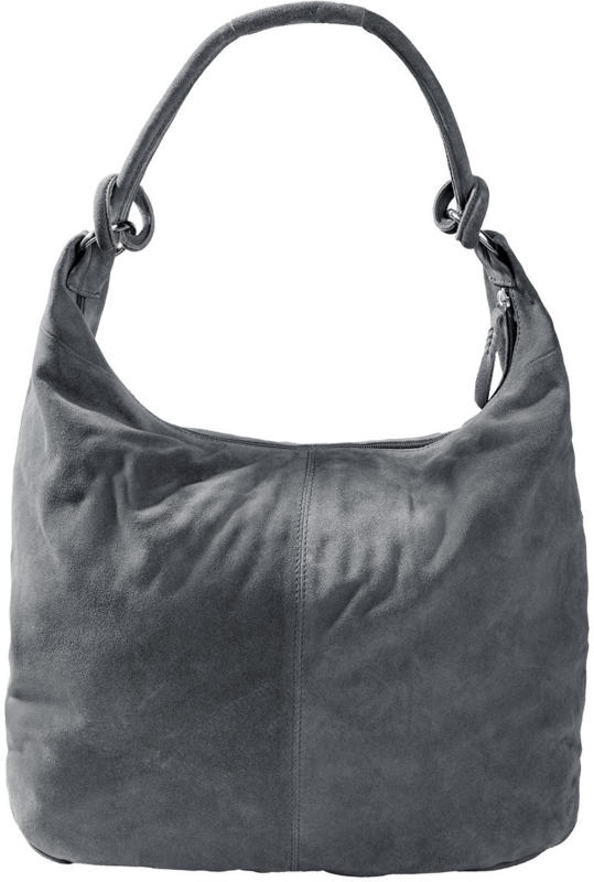 Damen Wildledertasche mit Reißverschluss (Nur online)