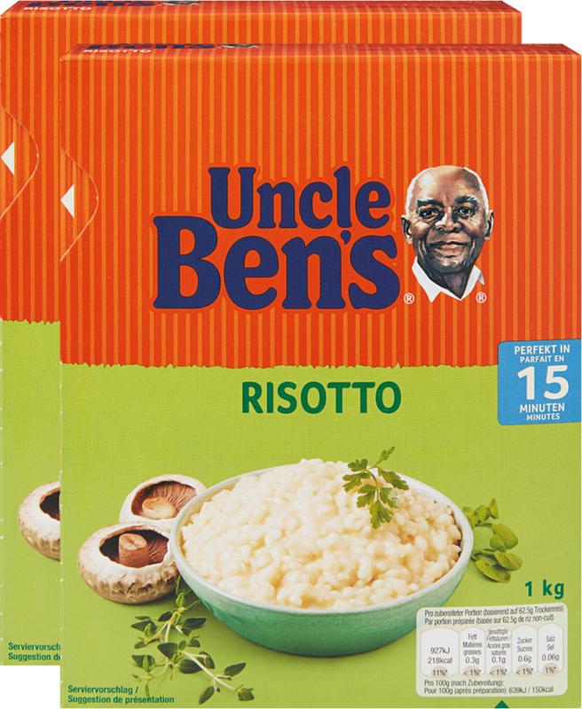 Risotto Uncle Ben's, 15 minutes, 2 x 1 kg