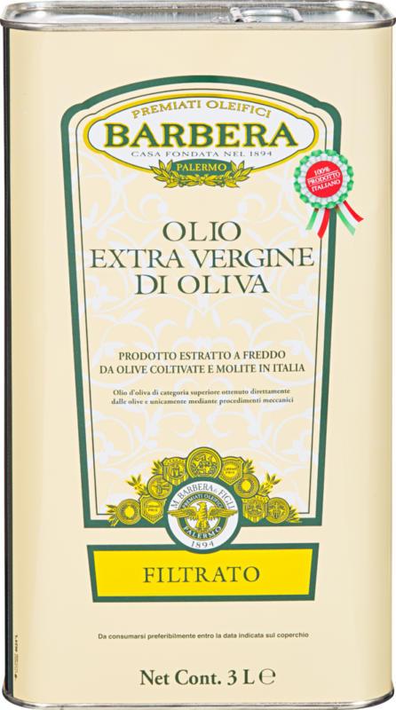 Olio di oliva Extra Vergine Barbera, filtrato, 3 litri