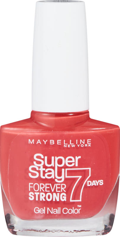 Smalto per unghie Maybelline NY, Superstay Forever Strong, 7 Days, 08 Passionate Red, 1 pezzo