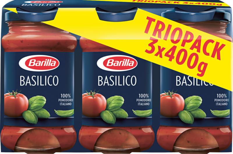 Barilla Sauce Basilico, 3 x 400 g