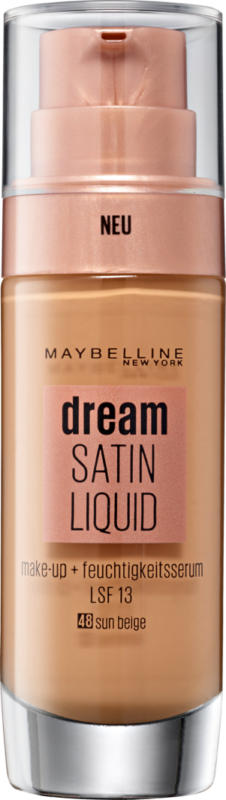 Maybelline NY Make-up Dream Satin Liquid 48 Sun Beige, 30 ml