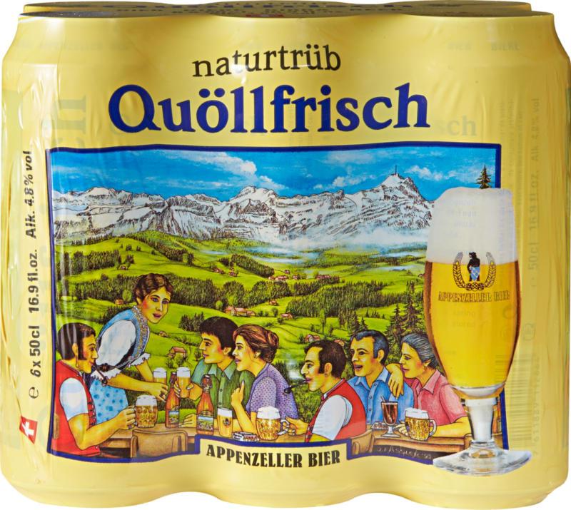 Appenzeller Bier Quöllfrisch naturtrüb, 6 x 50 cl