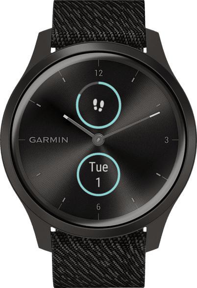 GARMIN  Vivomove Style Smartwatch Aluminium, Nylon, k.A., Schwarz