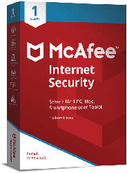 McAfee Internet Security 1 Gerät - 1 Jahr 2021 (Code in a Box)