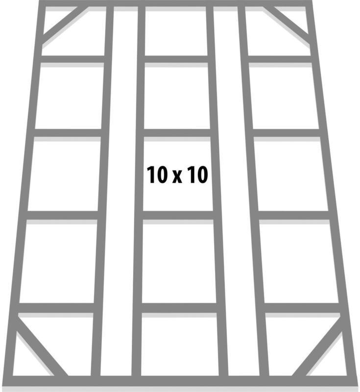 Fundamentbodenrahmen, 10x10m